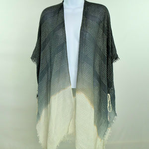 Steve Madden Ombre Cover Up Wrap Shawl Fringe New
